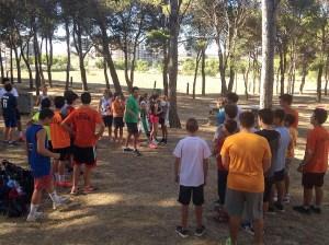 Gran número de jóvenes se han dado cita en el primer dia de entrenamiento / Foto: CB Peñas