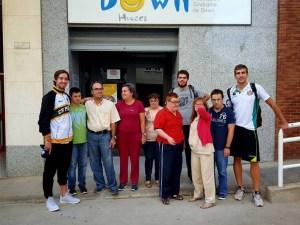 Visita del Peñas a la Asociación Down / Foto: CB Peñas