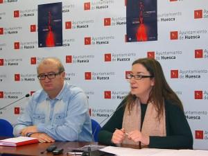 José María Romance y María Rodrigo en la presentacion / Foto: Ayto. de Huesca