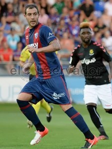 Urko Vera en el partido jugado en el Alcoraz frente al Nástic / Foto: Jim