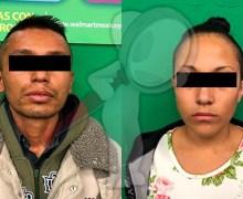Aseguran a pareja señalada por robo en Centro Comercial