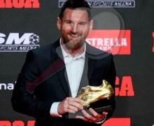 Recibe el jugador Messi su sexta Bota de Oro