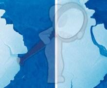 Captan separación de iceberg en la Antártida
