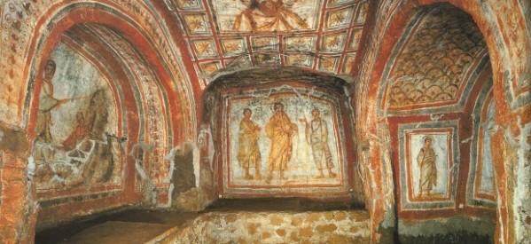 Resultado de imagen de catacumbas de santa Domitila