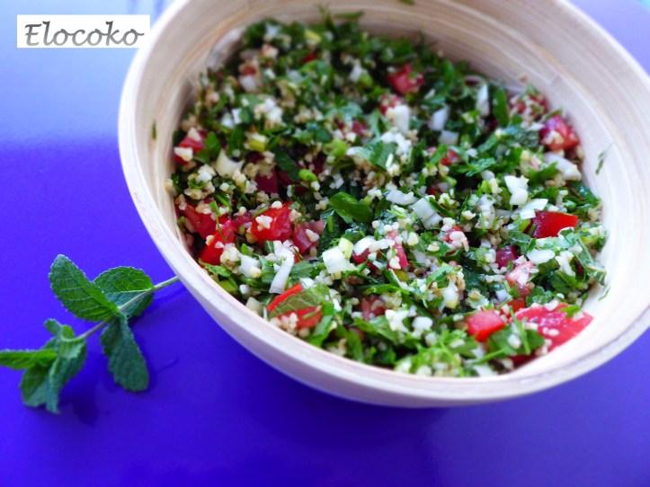 taboulé libanais boulgour menthe coriandre persil
