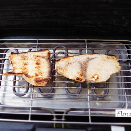 espadon mariné au barbecue