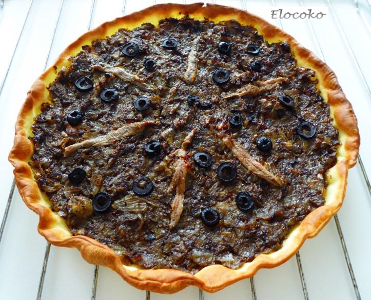 pissaladière : tarte oignons olives anchois