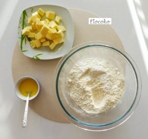 Pâte sucrée 1 : ingrédients