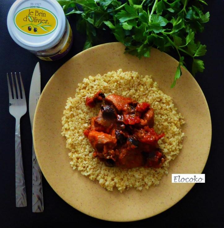 Mon sauté de dinde provençal :  olives, tomates et thym