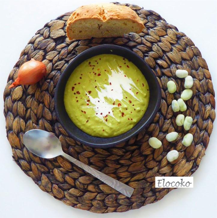 Velouté de fèves au lait de coco