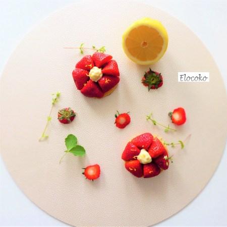 Ma tartelette aux fraises (crème pâtissière à l'estragon et sablé breton à l'huile d'olive)