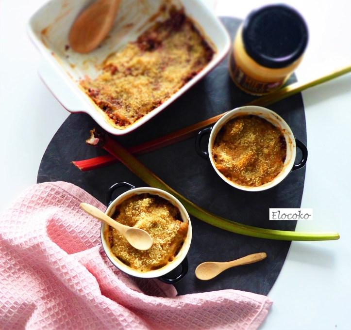 Petits gratins de rhubarbe, quinoa et miel