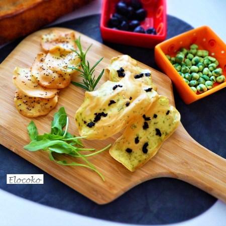 Mes tuiles salées : romarin-olives et graines de chia-sésame