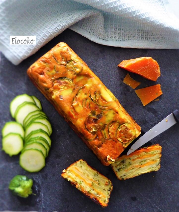Gâteau invisible courgette et mimolette