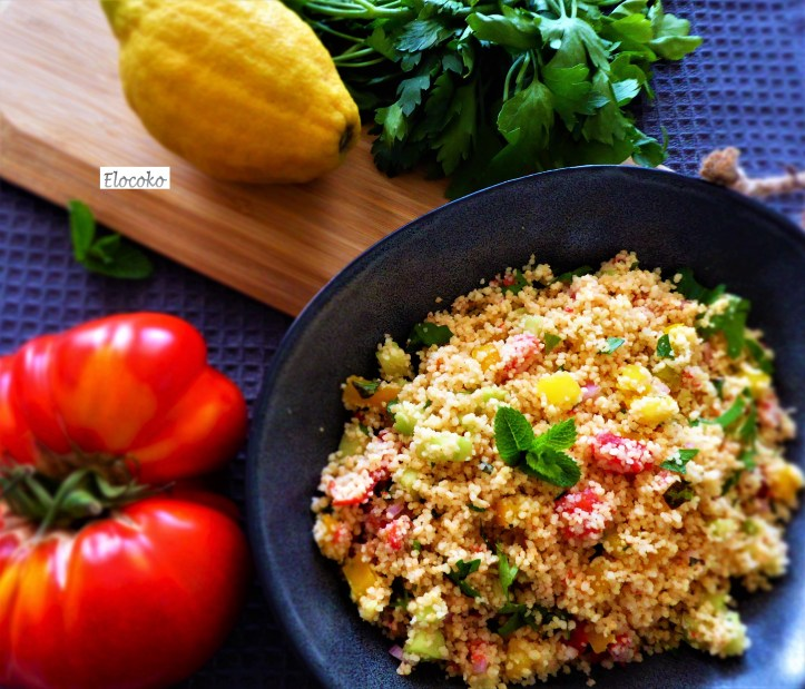 taboulé tomate, concombre, poivron