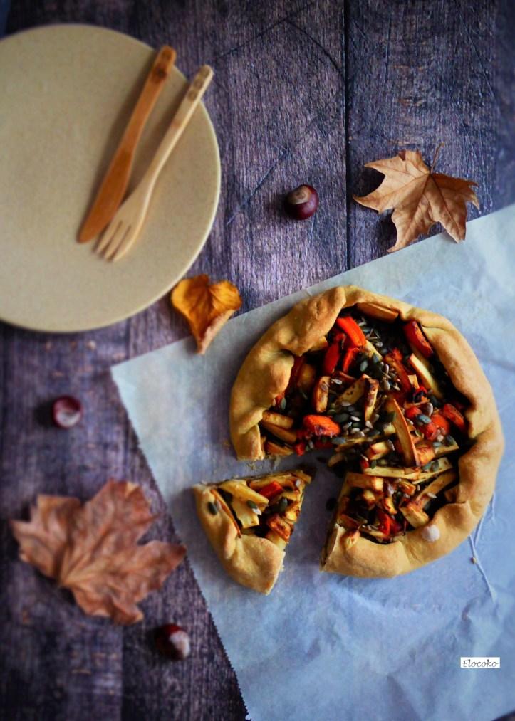 tarte rustique aux légumes d'automne