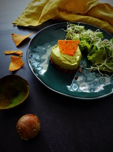 cheesecake façon nachos au guacamole