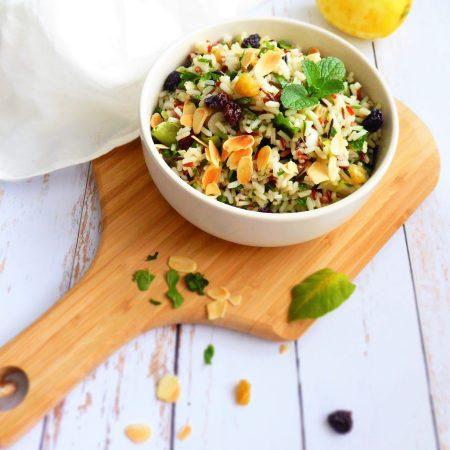 salade de riz sauvage à l'orientale