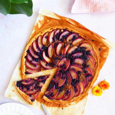 tarte fine nectarine myrtilles