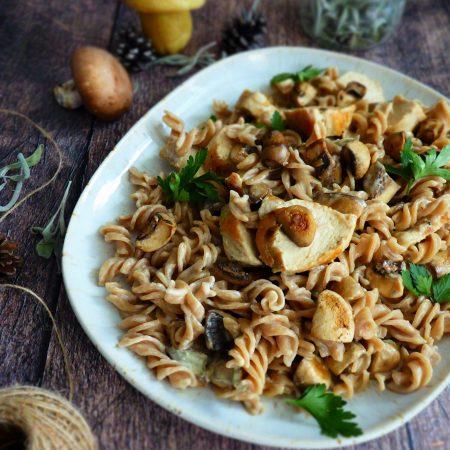 433-pâtes au poulet, champignons et sauge