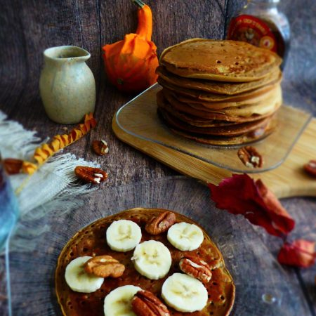 462-pumkin spicy pancakes - pancakes a la courge