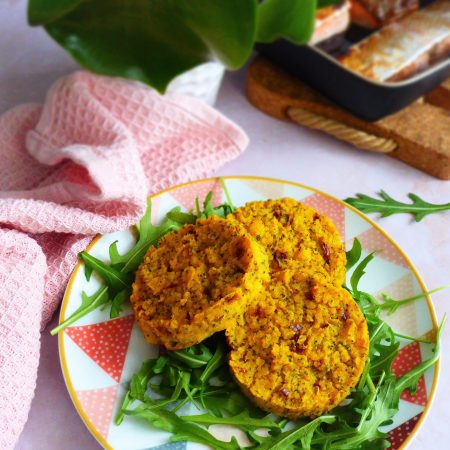 galettes de polenta à l'indienne