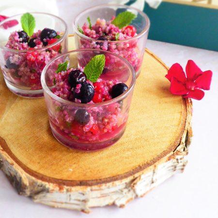 Fraicheur de quinoa aux fruits rouges