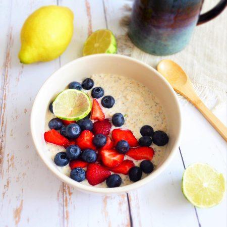 overnight porridge coco citron vert fraise myrtille b