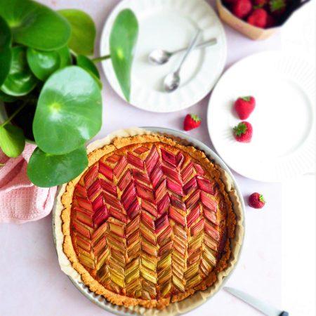 tarte rhubarbe coco
