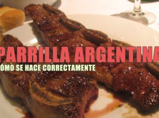 parrilla argentina. Receta típica