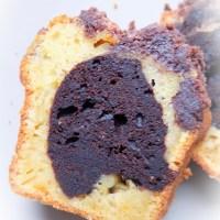 Crumble Cake marbré à l'orange et au cacao
