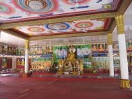 Temple entièrement peint à la main