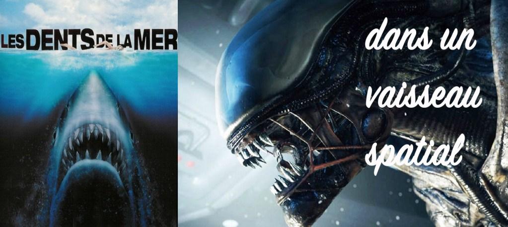 Affiches les dents de la mer et Alien