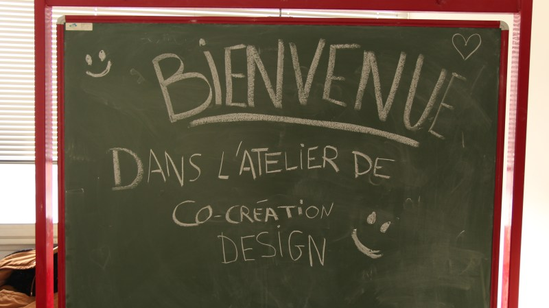 Tableau de bienvenu Atelier de Co-création