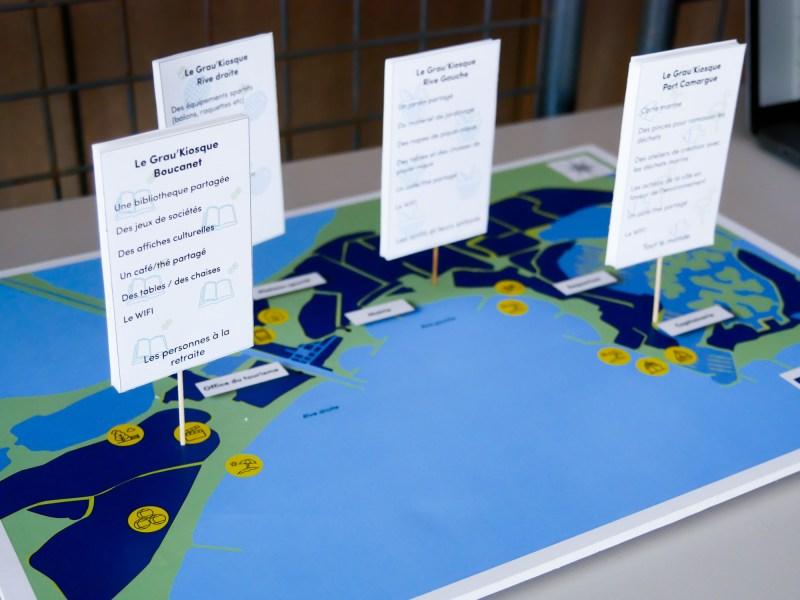 Carte des emplacements des kiosques