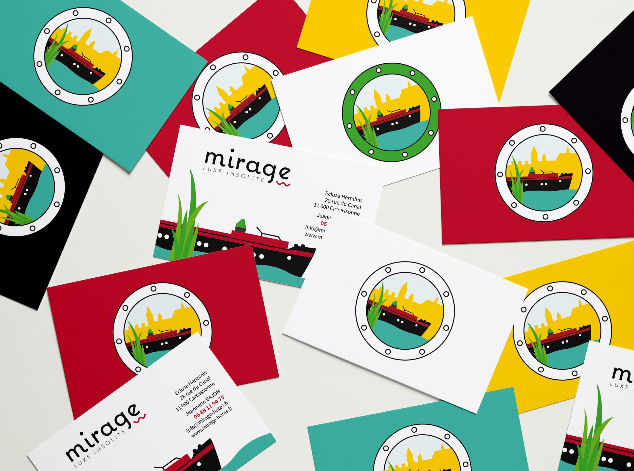 mirage flyer logo péniche identité visuelle