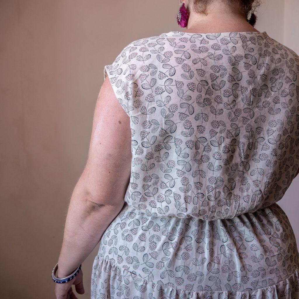Robe Violette République ud Chiffon Elodie Blueberry