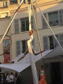 Elodie Lobjois, Tissu aérien, Danseuse aérienne Paris