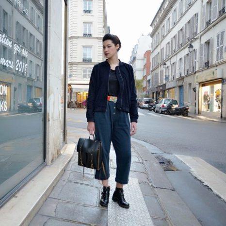 mode éthique look parisienne arty