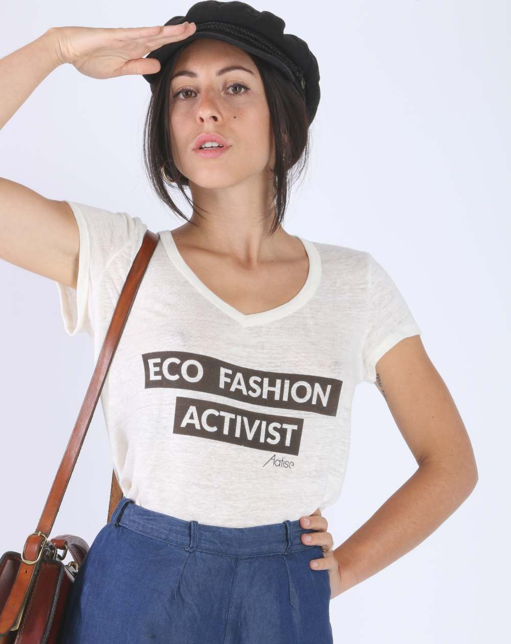 Aatise, la mode éthique écologique et durable made in France ! eco fashion activist t-shirt à texte