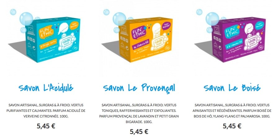 savon bio à froid natirel funethic