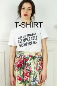 t-shirt à message les récupérables mode éthique et écologique durable recyclée made in France