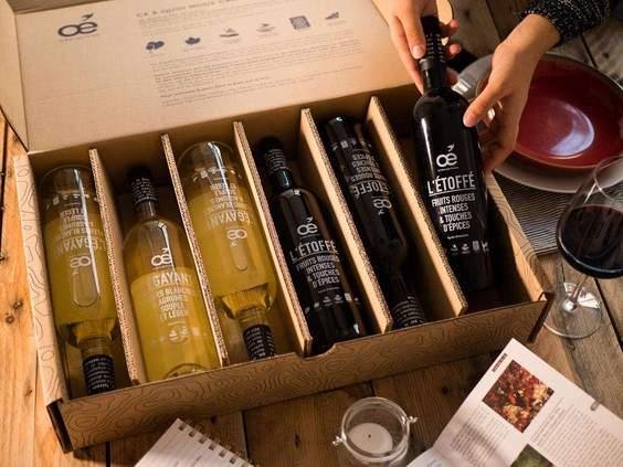 idée cadeau écologique pour homme : la box de vin biologique oé ! #cadeau #écologie #vin