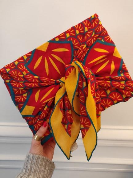 Amédée 1851, foulards et écharpes éthiques en mérinos inspirés du style art déco ! Furoshiki #furoshiki #emballagecadeau #idéecadeau #foulard #écharpe #modeéthique #modefemme #femme #mode #accessoires #artdéco #artdeco