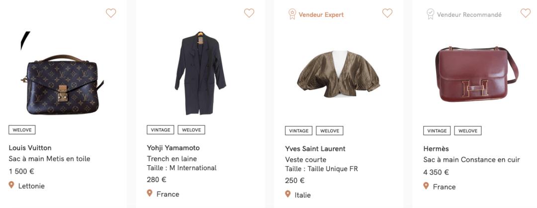 marques de luxe et haute couture d'ocacsion pas cher