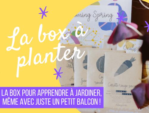Idée de cadeau écolo - la box à planter, box de jardinage bio