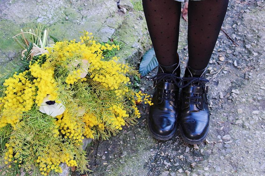 Look mode éthique écologique KLOW Ondinema hiver mi-saison boots noires docs nae vegan shoes #mode #boots #polkadots #modeéthique #sustainablefashion #vegan #veganshoes