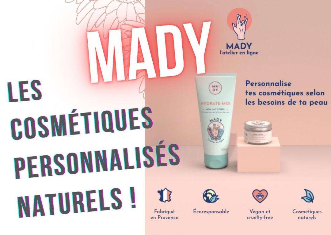 Mady cosmétique naturelle sur mesure personnalisée fabriquée à la demande