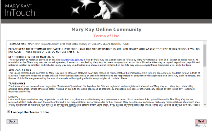 marykayintouch online service
