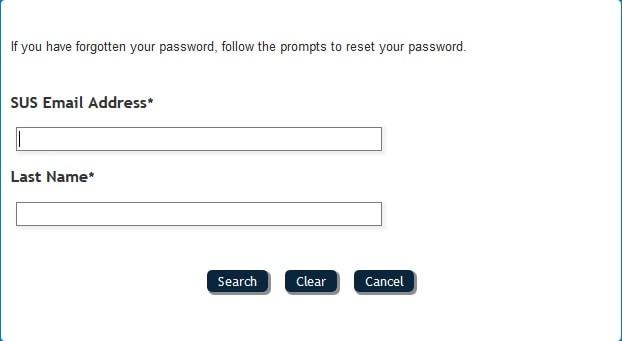 Reset Password SUSLA